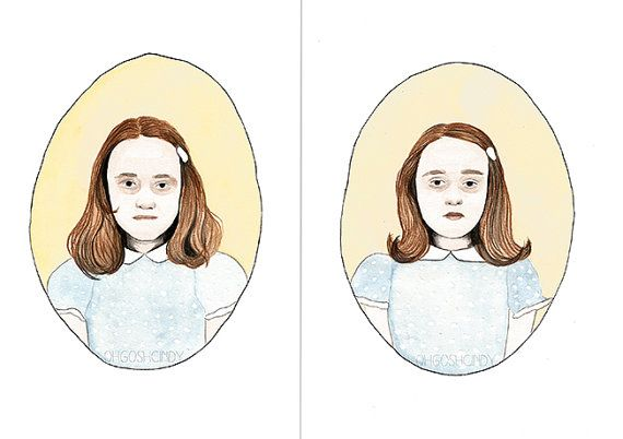The Grady Twins from the Shining - watercolour portrait by ohgoshCindy on @Etsy #want