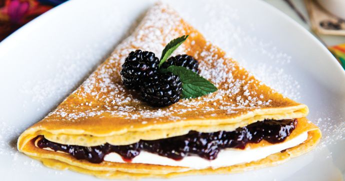 Stack on the crepes with our delicate recipe of Stella Rosa Black and Blackberries crepe! They are much easier to make than you might think. Find the recipe on our blog at http://stellarosawines.com/