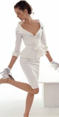 : Ideas, Outfits, Wedding Dressses, Fashion, Style, Wedding Dresses, Clothing, Weddings, White Suits