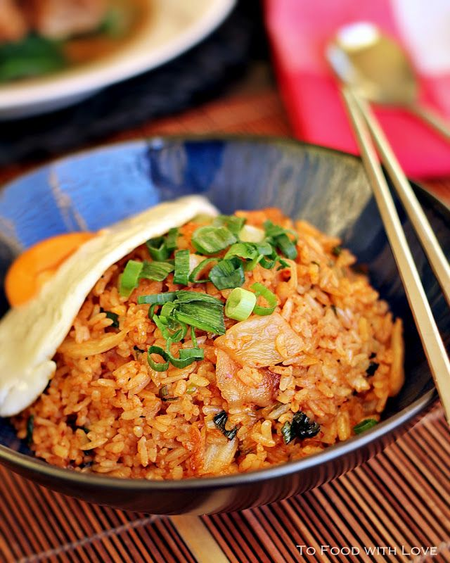 To Food with Love: Spicy Pork and Kimchi Fried Rice
