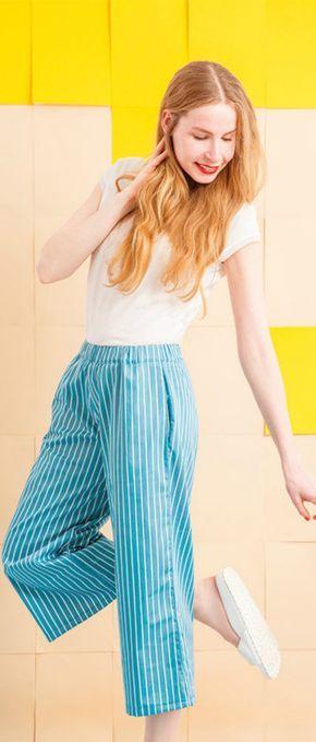 Nähanleitung für eine Culotte, Hose selbernähen / sewing pattern for modern and trendy culotte trousers made by Zierstoff - einfach nähen! via DaWanda.com