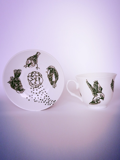 Hand-painted porcelain by Collectilovely Imaginative © visit  https://www.facebook.com/collectilovelyimaginative