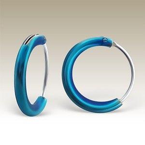Silver hoop earrings. - CR1.2x10-E BL/16301
