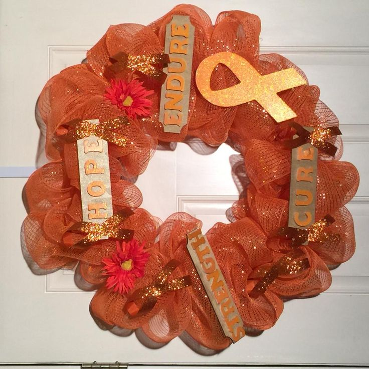 March is MULTIPLE SCLEROSIS Awareness Month. This MS WREATH was created for a special mom that is full of Hope.