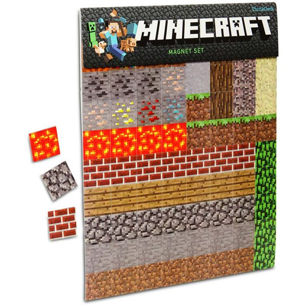 Minecraft Sheet Magnets. I want to get these for my sister, ha.