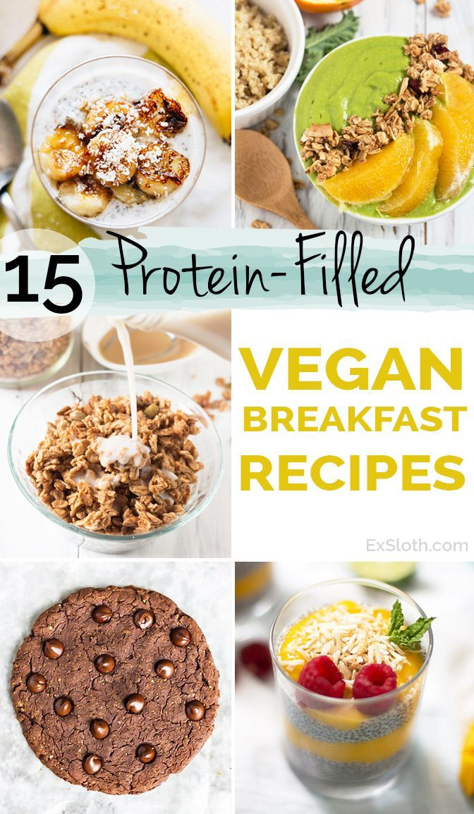 15 Protein-Filled Vegan Breakfast Recipe via /ExSloth/ | http://ExSloth.com