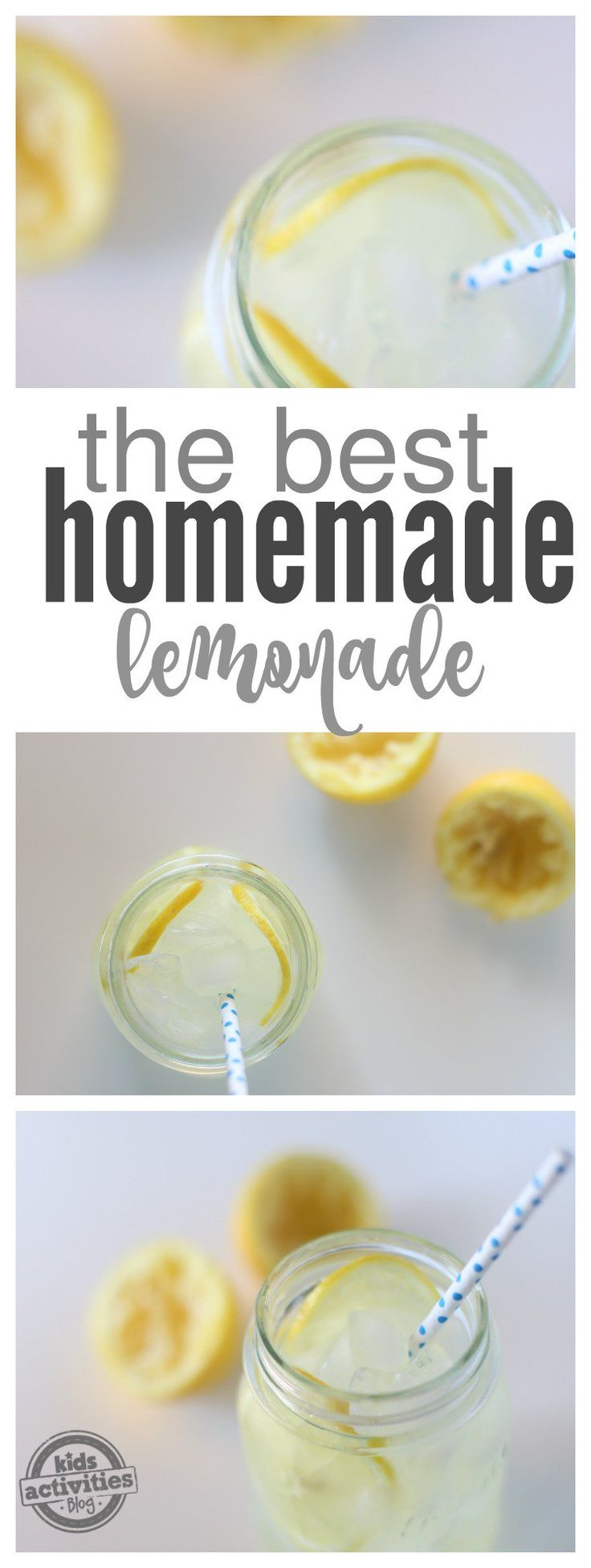 Summer is here and it's time to start thinking about delicious and refreshing drink recipes to make for friends, family and of course yourself! My kids love this recipe because it's the best homemade lemonade recipe that you'll ever make! Remember if you love strawberries to try our Strawberry Lemonade recipe too, it's just a different version of refreshing deliciousness! There's just something about a good lemonade that's refreshing and reminds you of the sunny days o...