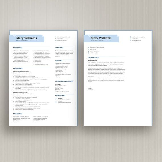 Professional Resume Template Minimalist Cv Medical For Ms