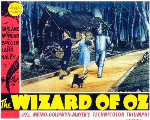 Judy Garland, Ray Bolger, and Margaret Hamilton in The Wizard of Oz (1939)