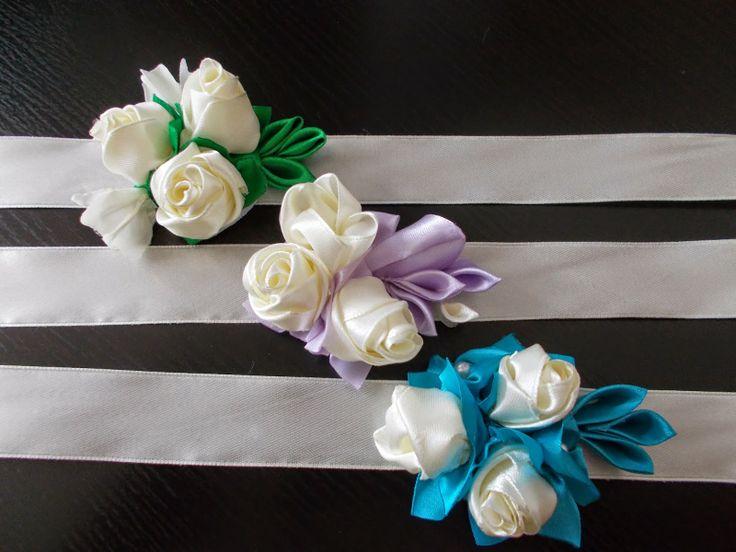 Made by me: Bratari domnisoare onoare Bratara cu trandafirasi ...