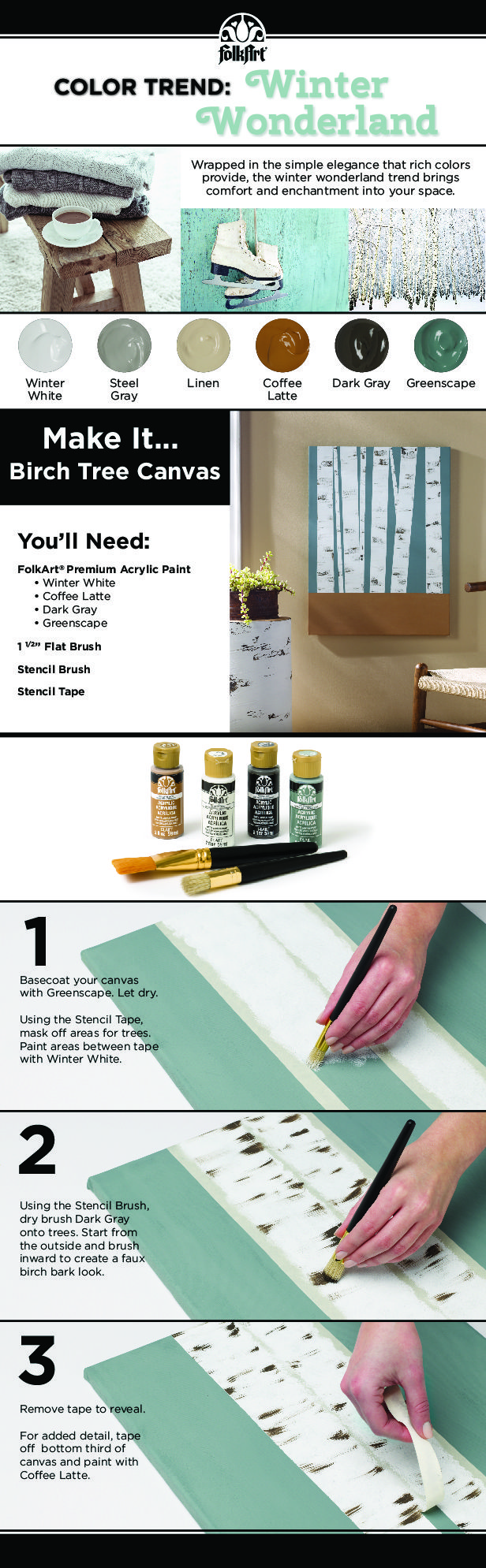 Create your own beautiful birch tree wall art following these easy steps! Painting for decoration has never been this easy!
