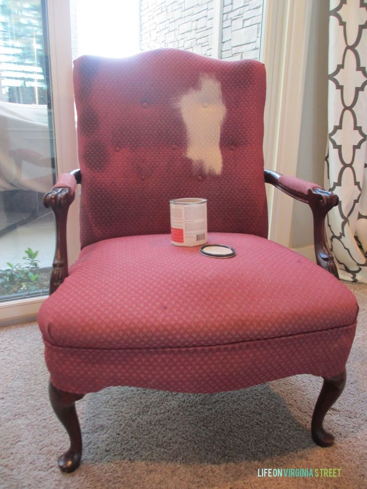 DIY, not sure where I would use this but a good find an tutorial on antiquing wax, too.  Painted Fabric and Wood Chair - Life On Virginia Street.