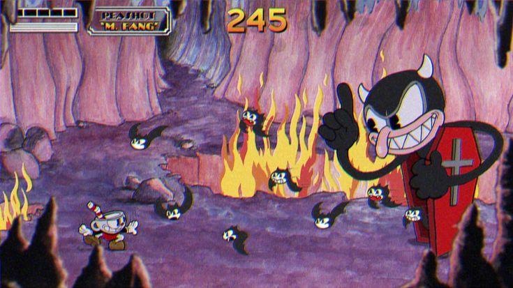 Videogame: 'Cuphead' (Studio MDHR, 2014) Gráficos de dibujos animados de la primera etapa Disney, pero con un contenido más oscur...