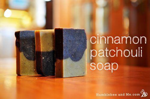 Natural DIY Cinnamon & Patchouli Cold Process Soap Recipe