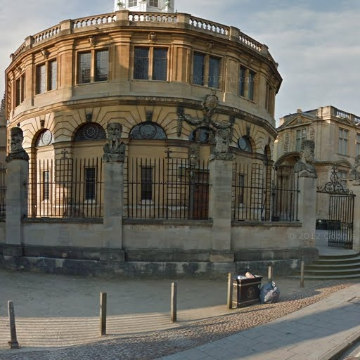17th century architecture, Christopher Wren, Sheldonian Theatre, Oxford, United Kingdom - street view