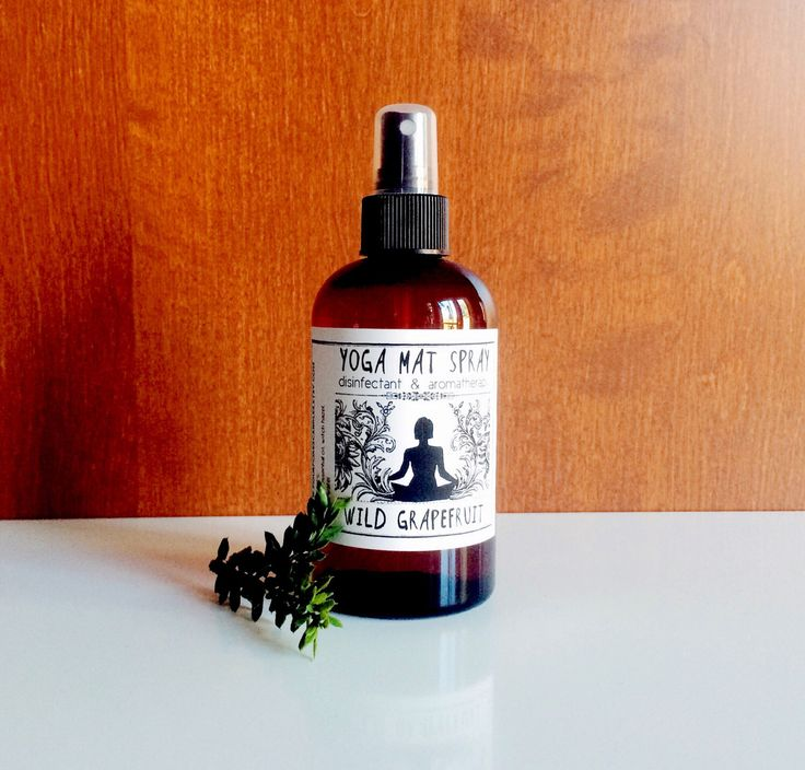 Yoga Mat Spray: Wild Grapefruit | 8 oz Disinfectant and Aromatherapy | Yoga Mat Cleaner by FourFoxesCandles on Etsy https://www.etsy.com/listing/196279119/yoga-mat-spray-wild-grapefruit-8-oz