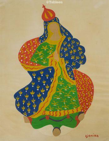 Djanira. Guache. 26x20 cm