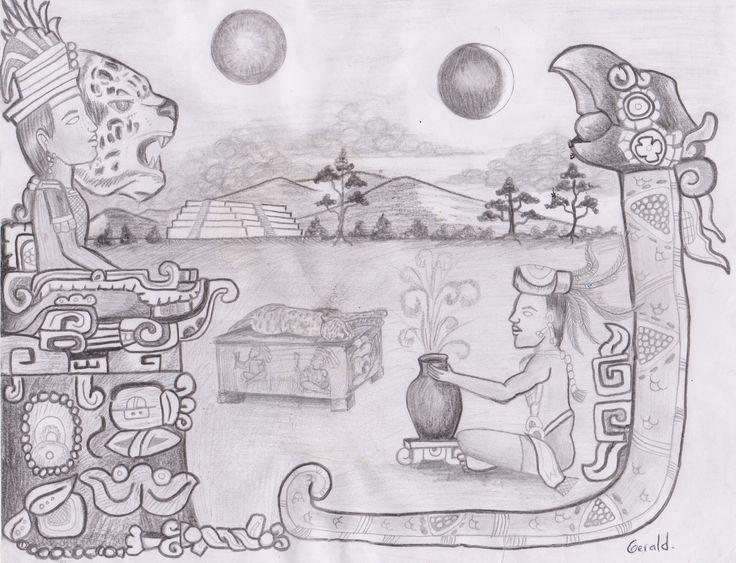 Diseño Mural Eclipse Maya, Autor  Gerald Velasquez.