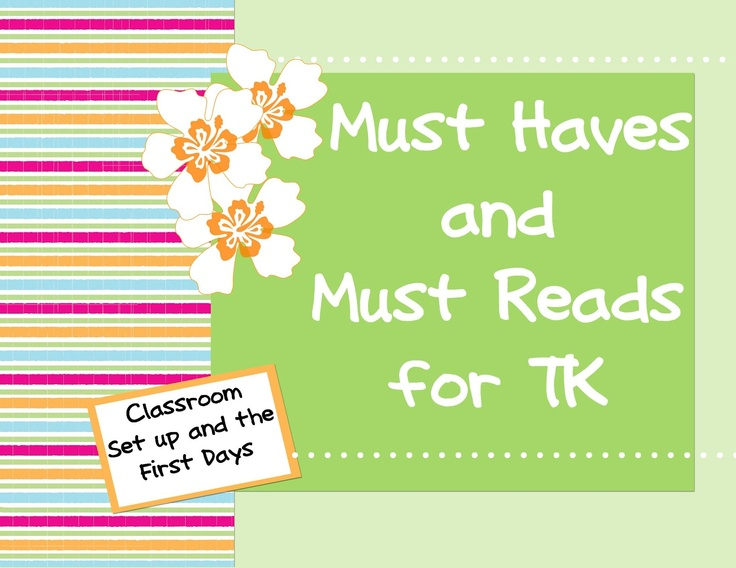 WOW! GREAT informative post with lots of extras for setting up TK or Kinder classrooms!!!
