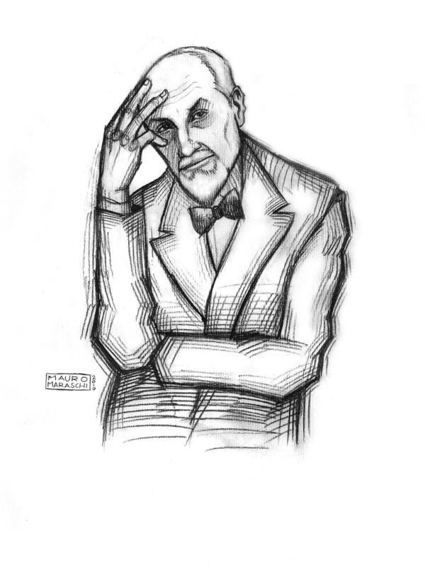Portraits of Italian writers by Mauro Maraschi, via Behance