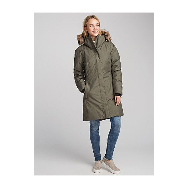 The North Face Arctic down parka (18.455 RUB) ❤ liked on Polyvore featuring outerwear, coats, the north face parka, hooded coat, waterproof parkas, hooded parka and zipper coat