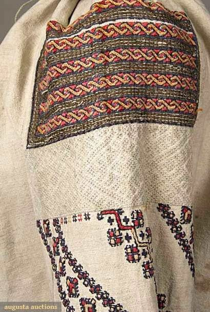 you will see the three part embroidery which is so typical of this entire area. Here is another. These are both morshchanka type.