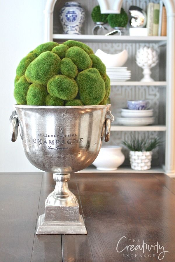 Creative ways to decorate with champagne buckets and where to find them.  The Creativity Exchange