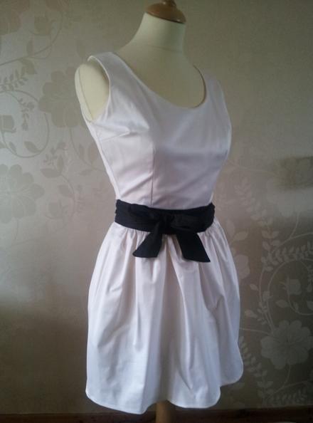 Monochrome gathered dress