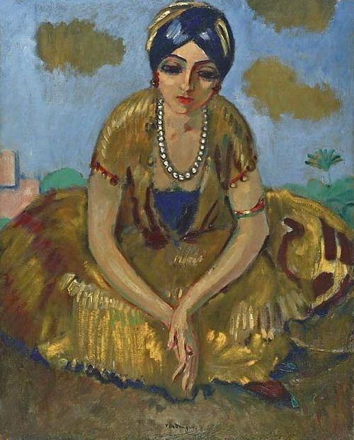 Kees van Dongen - Chica egipcio con un collar de perlas   Fuente: worldpaintings.tumblr.com