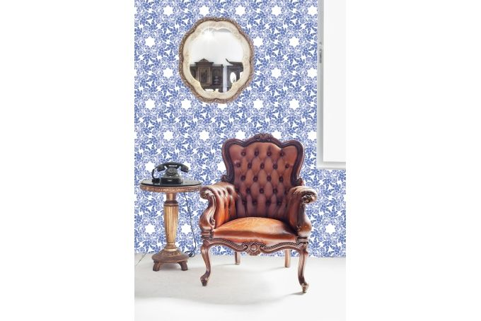 Indigo Blue Wallpaper by handmade by me on hellopretty.co.za