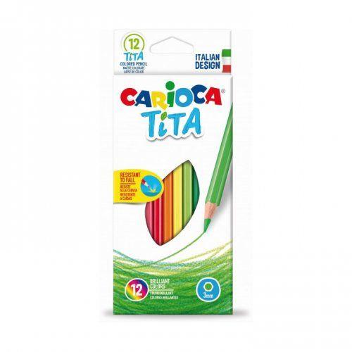 Creioane colorate plastic 12 culori/set CARIOCA Tita
