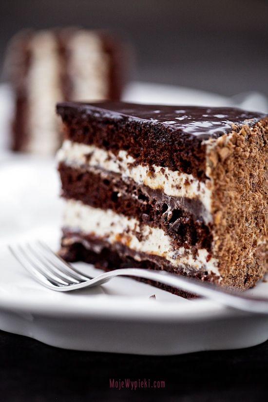 Tort czekoladowo - kawowy z powidłami śliwkowymi: Food & Drinks, Chocolates Layered Cakes, Chocolates Cakes, Coff Liqueurs, Pastel Chocolates, Dashboards, Classic Cakes, Chocolate Cakes, Food Drinks
