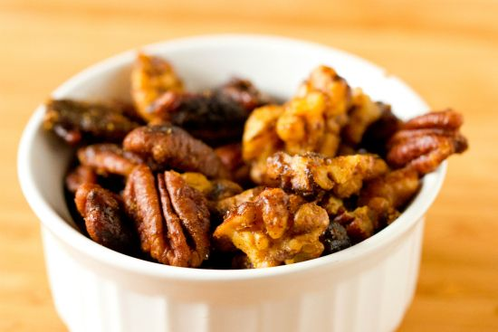 A recipe for homemade mixed nuts - coated with a sweet and spicy mixture that make a great everyday snack, or an add-on to appetizers.