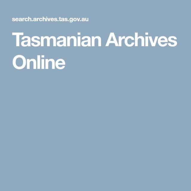 Tasmanian Archives Online