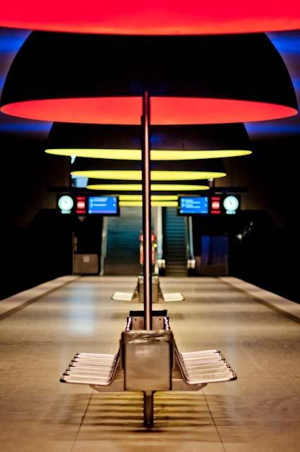 Subway Station • Westfriedhof, München, Bayern, Germany