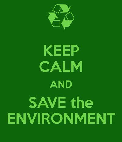 Save Environment Slogan: Keep calm and save the environment