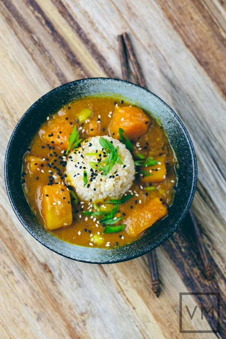 Japanese Kabocha Curry http://veganmiam.com/recipes/japanese-kabocha-curry #curry #vegan