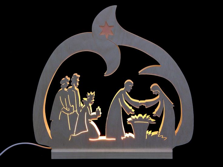 Candle arch - LED - Nativity  - 30x28,5x4,5cm / 12x11x2 inch