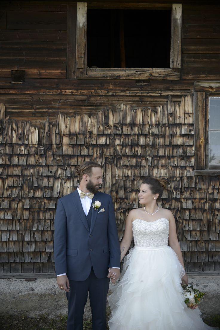 Shabby chic wedding Barn wedding Allure bridal 9110