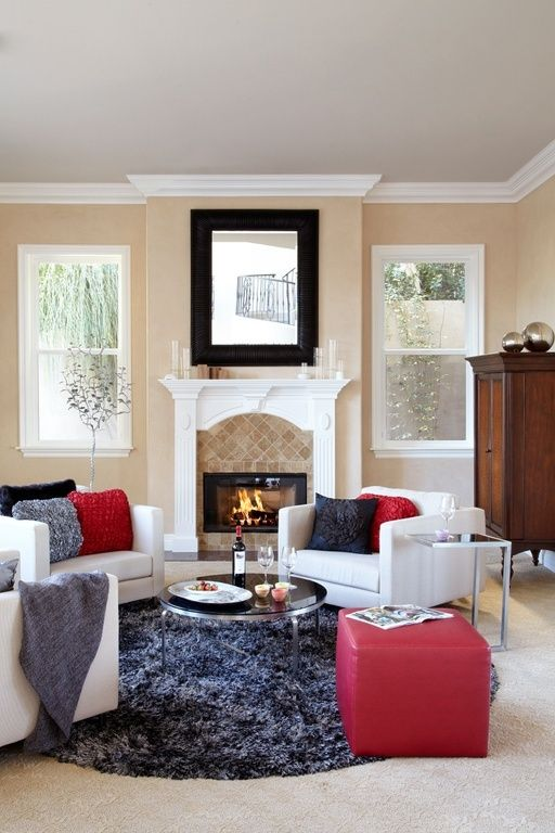 Warm Cozy And Tastefully Decorated This Living Room Area Has YIN YANG