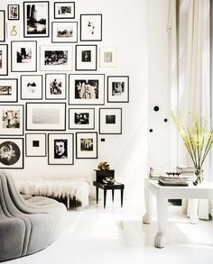 Black And White Gallery Wall 133 best gallery walls images on pinterest | live, picture walls