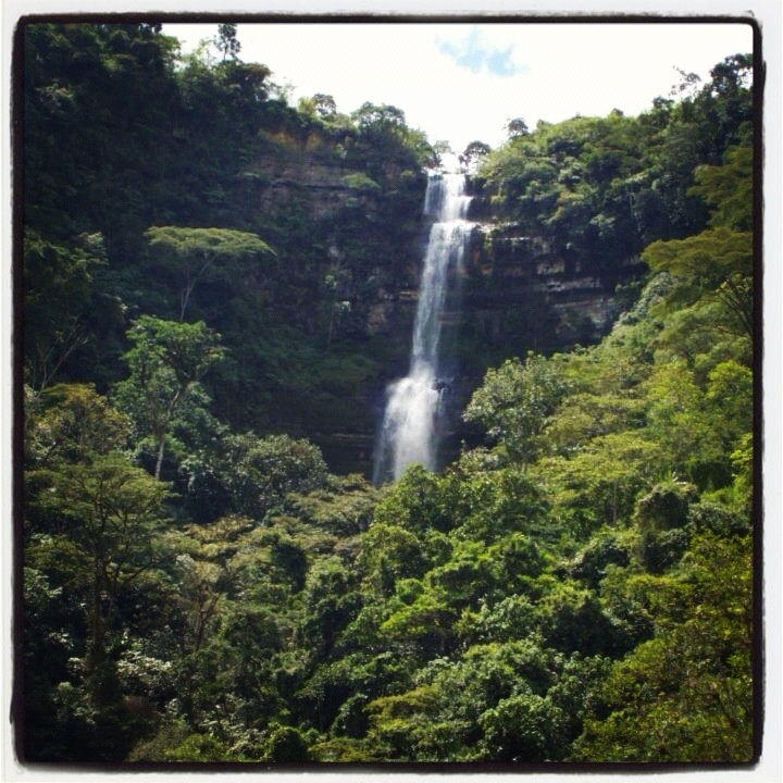 San Gil, Santander, Colombia waterfall