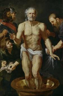 """Rubens: """"La muerte de Séneca."""" 1612-1615.  Museo Nacional del Prado, Madrid."""