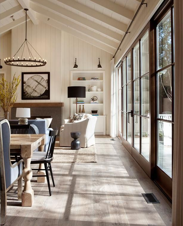 Connect living room with outdoor through large doors