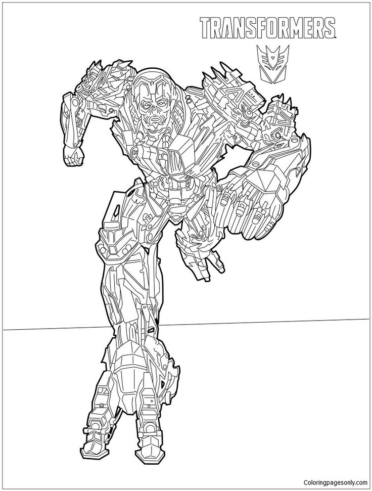 Transformers Lockdown Coloring Page Coloringpagesonly Pages