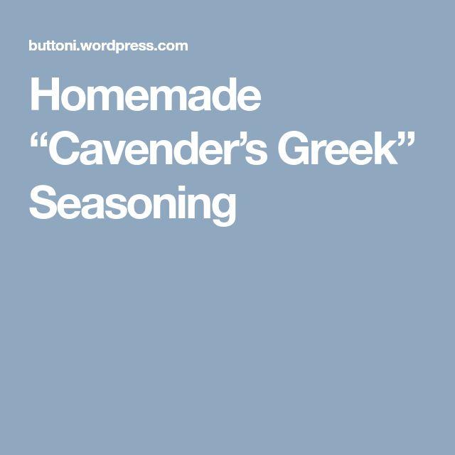 """Homemade """"Cavender's Greek"""" Seasoning"""