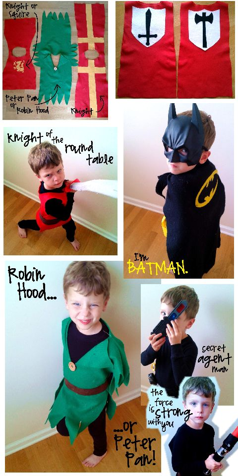 fast easy cheap durable DIY boy costumes from CampClem blog
