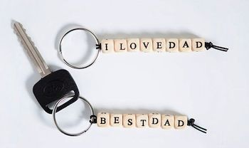 Hellobee diy father's day key chains