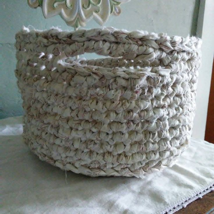 Diy Rag Rug Basket: 25+ Best Ideas About Crochet Storage On Pinterest