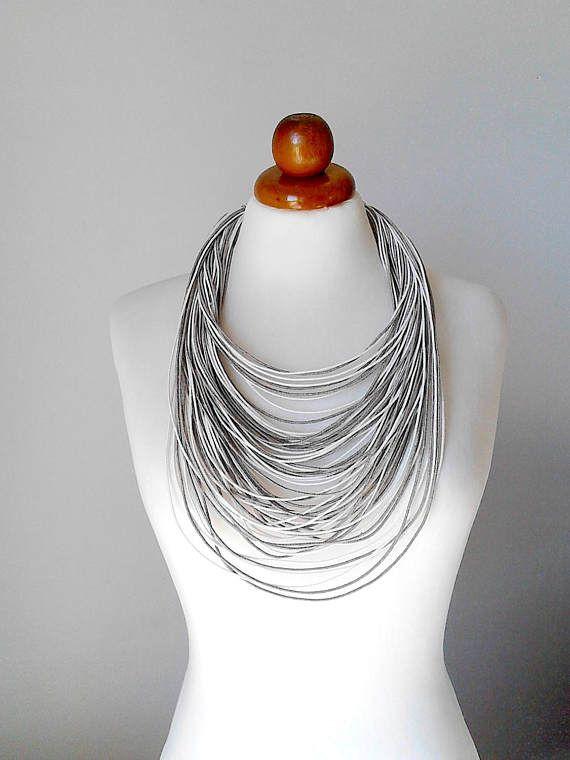 Multi strand necklace multi strand jewelry white statement